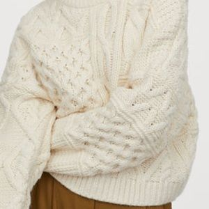 H&M Cream Cable-knit Sweater